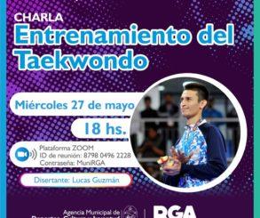 Charla de entrenamiento de taekwondo con Lucas Guzmán